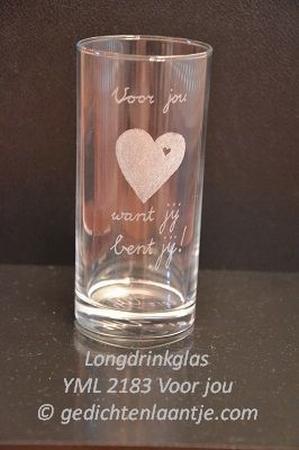 Longdrinkglas glasgravure YML 2183