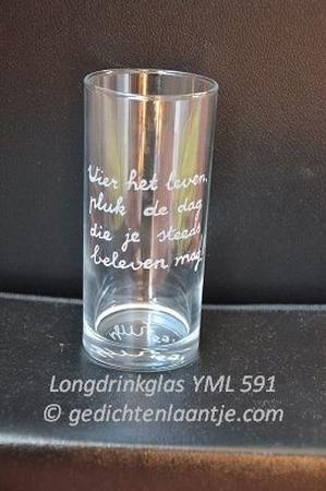 Longdrinkglas glasgravure YML 591