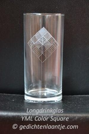 Longdrinkglas glasgravure YML