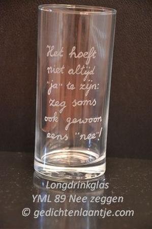 Longdrinkglas glasgravure YML 89