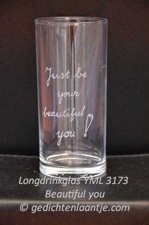 Longdrinkglas glasgravure YML 3173