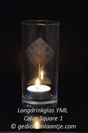 Sfeerlicht/Longdrinkglas YML Color Square 1