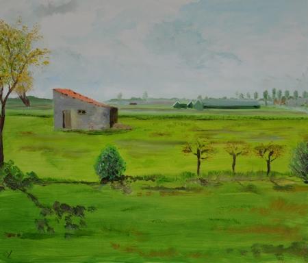 Origineel olieverfschilderij YML