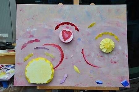 Acryl/3D-schilderij YML Keep moving, let love rule the world