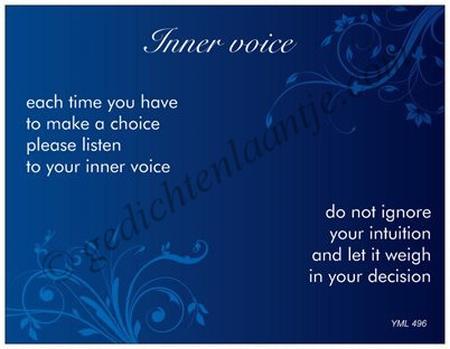 Gedichtkaart YML 496E: Inner voice