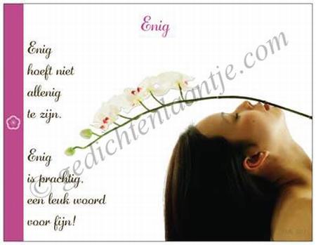 Gedichtkaart YML 503: Enig