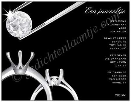 Gedichtkaart YML 504: Een juweeltje