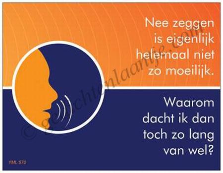 Gedichtkaart YML 570: Nee zeggen