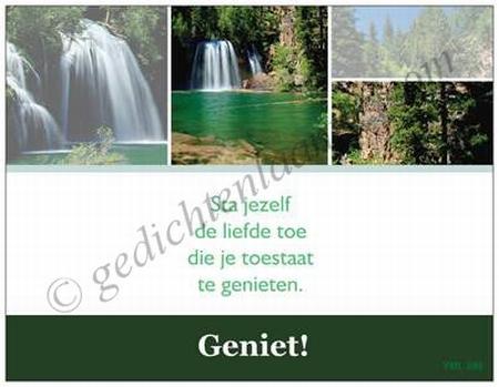 Gedichtkaart YML 596: Geniet