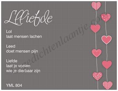 Gedichtkaart YML 804: Llliefde