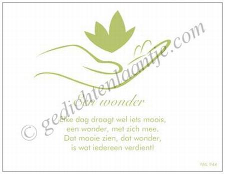 Gedichtkaart YML 944: Wonder
