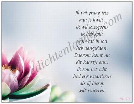 GedichtkaartYML 1078: Spijt