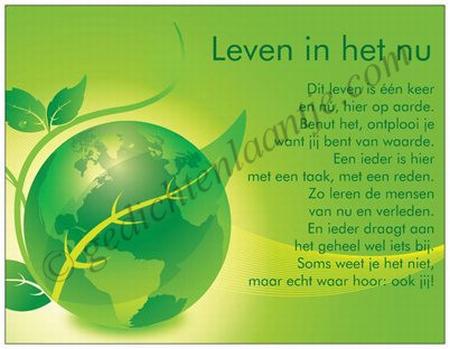 Gedichtkaart YML 1082: Leven in het nu