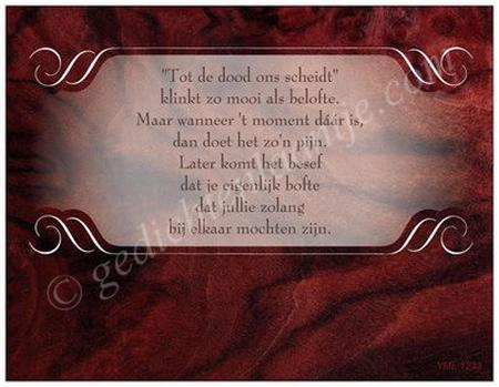 Gedichtkaart YML 1233: Tot de dood ons scheidt