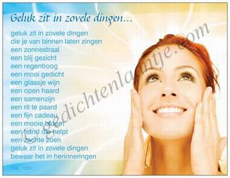 Gedichtkaart YML 1306: Geluk zit in zovele dingen