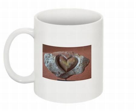 Mok met beeld YML B1 hart