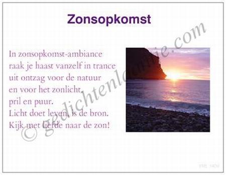 Gedichtkaart YML 1409: Zonsopkomst