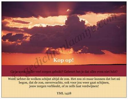 Gedichtkaart YML 1428: Kop op!