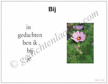 Gedichtkaart  YML 1558: Bij