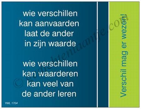Gedichtkaart YML 1704: Verschil mag er wezen!