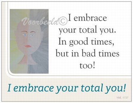 Gedichtkaart YML 1737: I embrace your total you