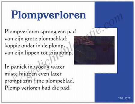 Gedichtkaart YML 1318: Plompverloren