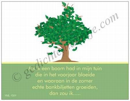 Gedichtkaart YML 1501: De geldboom