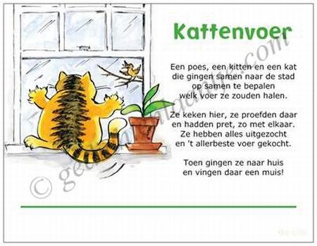Gedichtkaart YML 1278: Kattenvoer