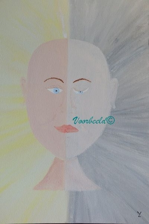 Schilderij YML S2: Ik omarm je hele ik