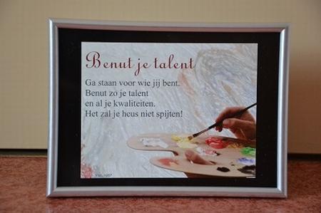 Fotolijstje 13x18 cm YML A1007: Benut je talent