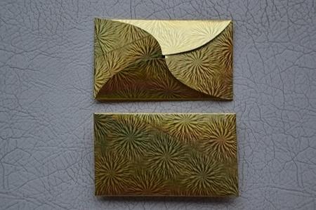 Gevertje, plat, goud (holografische print)