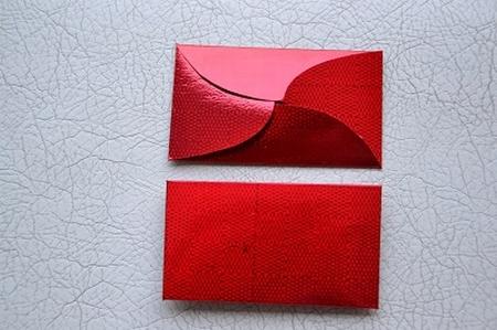 Gevertje, plat, rood (holografische print)