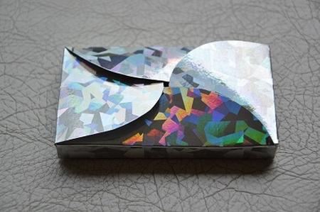 Gevertje, hoog, zilver holografisch