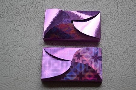 Gevertje, hoog, paars-roze holografisch
