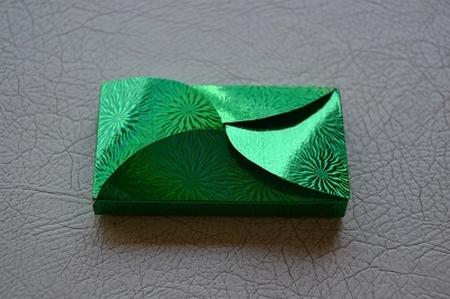 Gevertje, hoog, groen holografisch