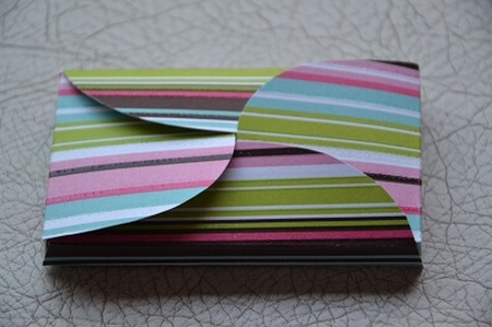 Gevertje, hoog, wit met print gekleurde strepen