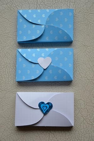 Gevertje, hoog, blauw /wit hart (diverse uitvoeringen)