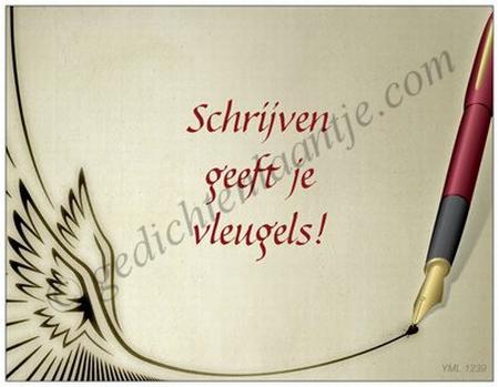 Spreukkaart YML 1239: Schrijven geeft je vleugels!