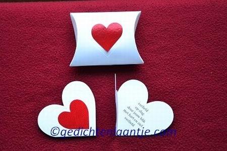 Hartkaart YML 2540 wit-rood hart: Verliefd