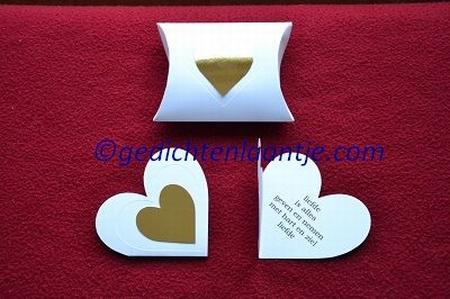 Hartkaart YML 2895 wit-goud hart: Liefde is alles