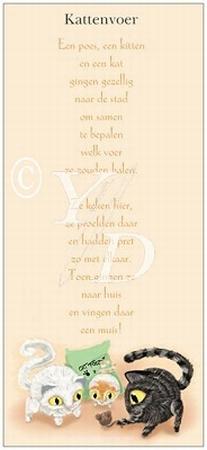 Boekenleggerkaart Y/D 001: Kattenvoer