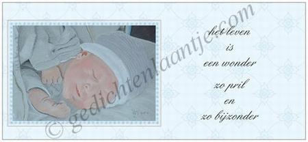 Gedichtkaart YML 2919: Het leven is een wonder