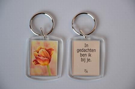 Sleutelhanger Y/D 006: Bij je - Tulp