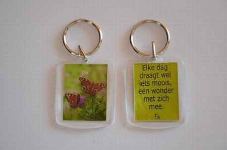 Sleutelhanger Y/D 009: Een wonder - Vlinders