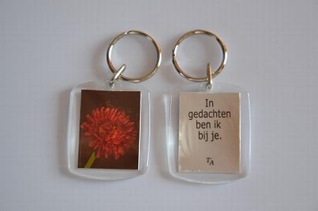 Sleutelhanger Y/D 012: Bij je - Gerbera