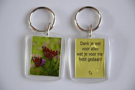 Sleutelhanger Y/D 016: Dank je wel - Vlinders