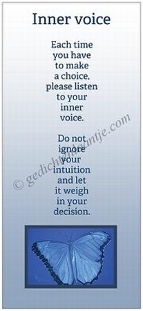 Boekenleggerkaart YML 496: Inner voice