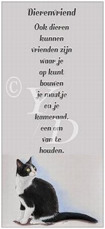 Boekenleggerkaart Y/D 003: Dierenvriend - Kat