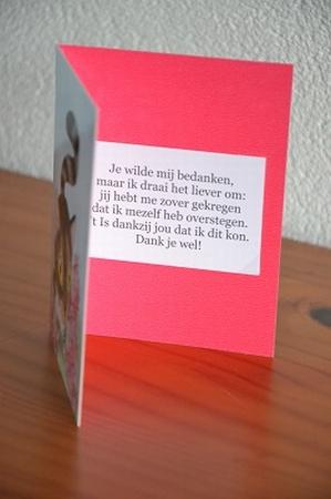Dubbele kaart Y/D 0035: Je wilde mij bedanken