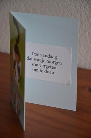 Dubbele kaart Y/D 0045: Doe vandaag
